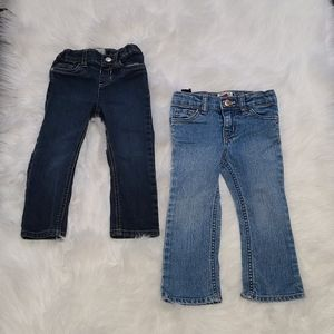 4/$25 skinny jeans & boot cut expandable jean 2T